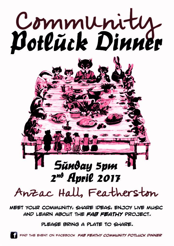 Fab Feathy - Potluck Poster