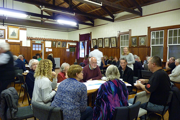 People at the community afternoon tea.